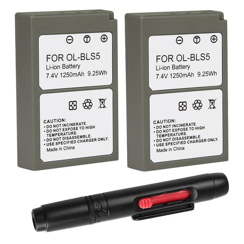 Battery/ Cleaning Pen for Olympus E-PL2/ BLS-5