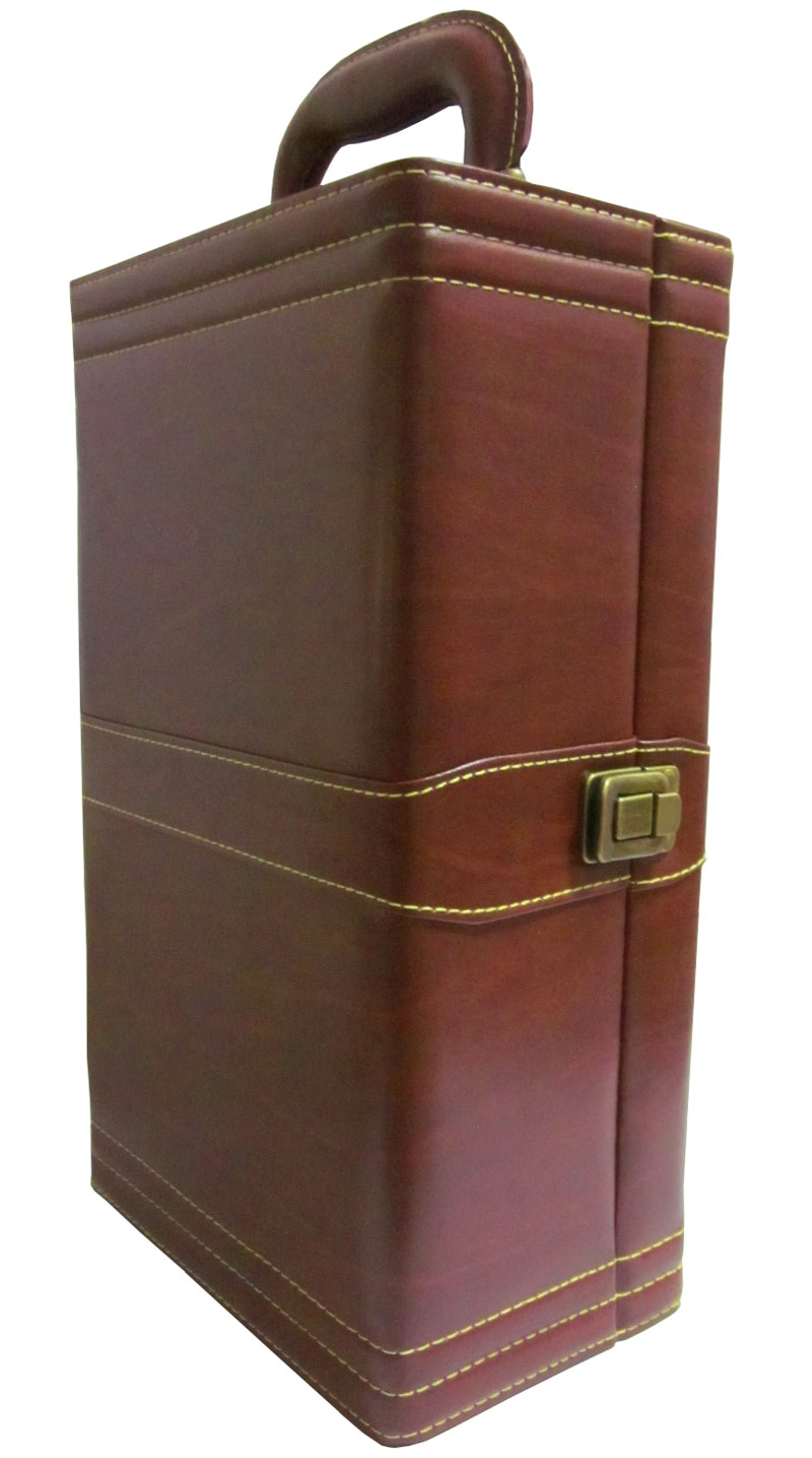 Amerileather Double Wine Case with Accessories (32-5)