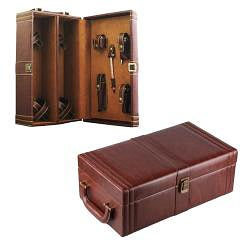 Amerileather Double Wine Case with Accessories (32-5) - Thumbnail 1