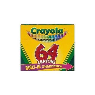 Binney & Smith Crayola 64 Crayons With Built-in Sharpener