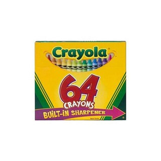 Binney & Smith Crayola 64 Crayons With Built-in Sharpener