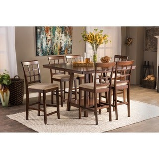 Baxton Studio Katelyn Contemporary Brown Wood 7-piece Counter Set