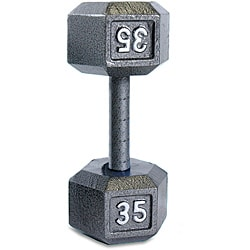 CAP Barbell 35 lb Solid Hexagonal Dumbbell