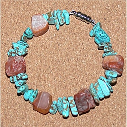 Susen Foster Carnelian and Turquoise 'Chickasaw Memory' Bracelet