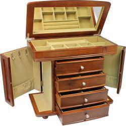 Seya Walnut Burlwood Jewelry Box