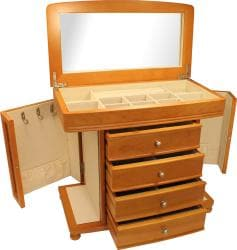 Seya Oak Burlwood Jewelry Box