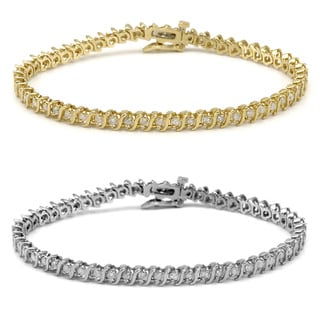 Auriya 14k Gold 2ct TDW Diamond Tennis Bracelet