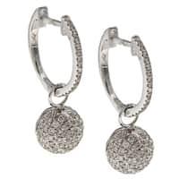 14k White Gold 3/4ct TDW Diamond Earrings