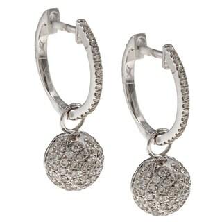 Auriya 14k White Gold 3/4ct TDW Diamond Earrings