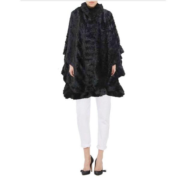 Tabeez Women's Faux Fur Glamour Cape