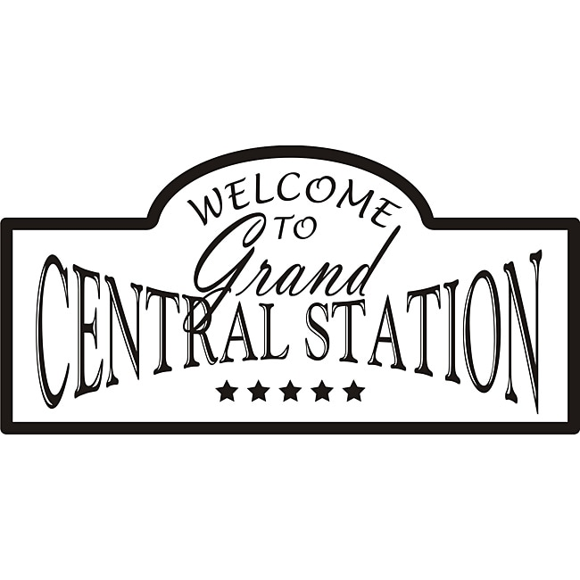 Design on Style 'Welcome to Grand Central Station' Vinyl Wall Art Quote