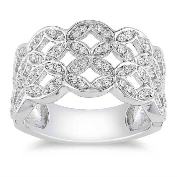 Miadora Sterling Silver 1/2ct TDW Diamond Ring (H-I, I3)