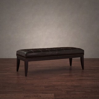 Pine Canopy Uncompahgre Dark Brown Leather Nail Head Bench