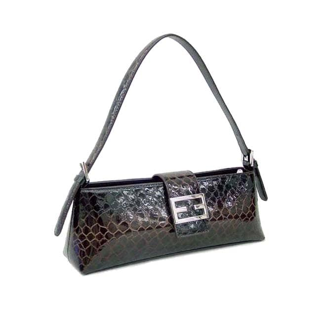 Dasein Patent Leatherette Shoulder Bag
