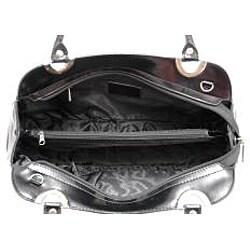Dasein Patent Embossed Snake Skin Leatherette Shoulder Bag