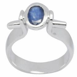 De Buman Sterling Silver Sapphire Ring