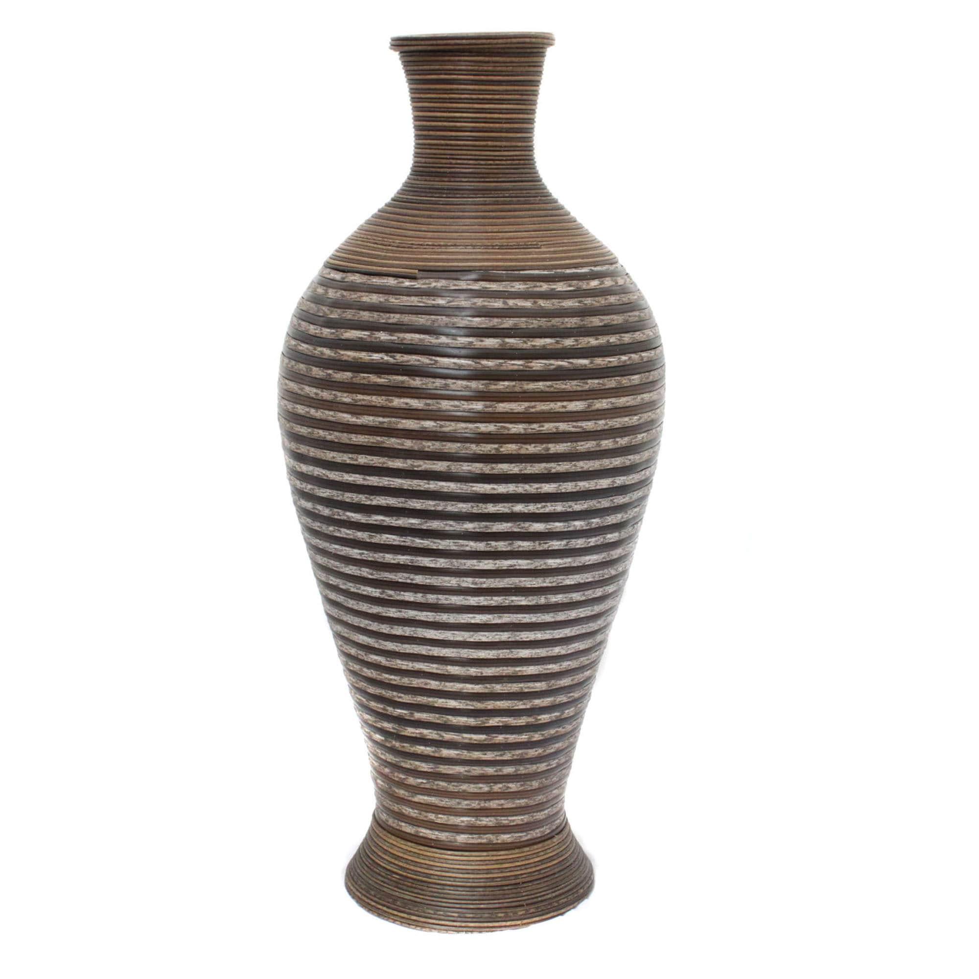 Casa Cortes Artisian Large Rattan Vase