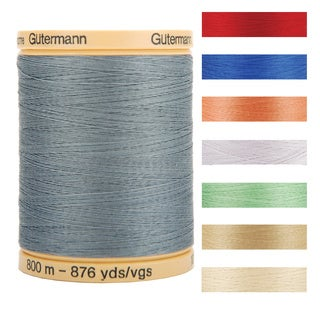 Gutermann Natural Solids 876-Yard Cotton Thread (Option: Red)