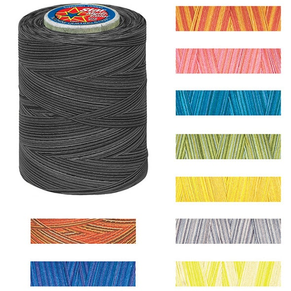 Clark Star Mercerized Variegated 1200 Yard Cotton Thread ...