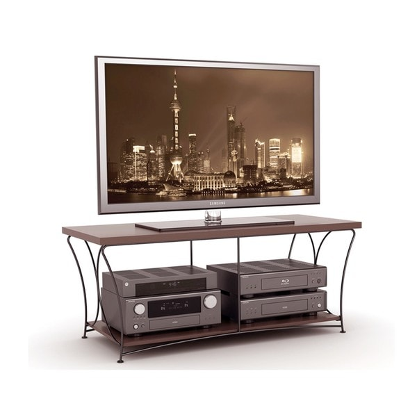 Atlantic Nuvo Mocha 2-tier TV Stand