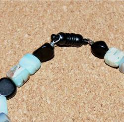 Susen Foster Onyx and Opal 'A Girl's Best Friend' Bracelet