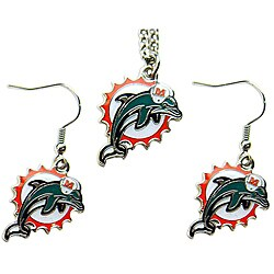 Miami Dolphins Necklace and Dangle Earring Charm Set|https://ak1.ostkcdn.com/images/products/6328628/Miami-Dolphins-Necklace-and-Dangle-Earring-Charm-Set-P13953293.jpg?_ostk_perf_=percv&impolicy=medium