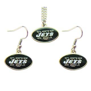 New York Jets Necklace and Dangle Earring Charm Set|https://ak1.ostkcdn.com/images/products/6328630/P13953289.jpg?impolicy=medium