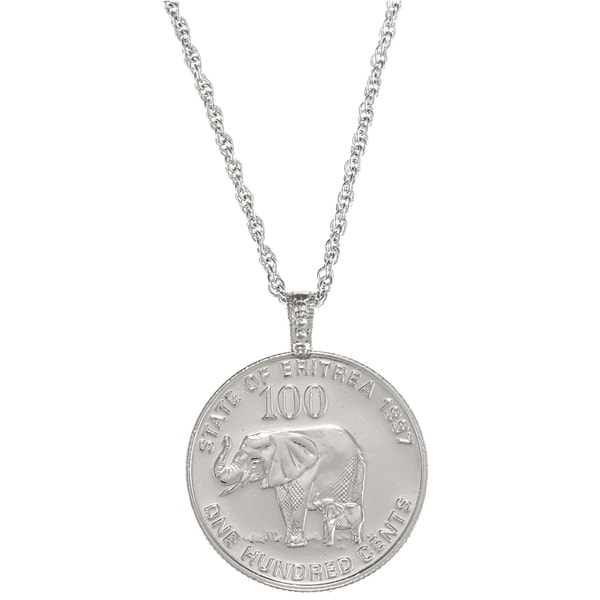 American Coin Treasures Lucky Elephant Coin Pendant