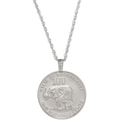 American Coin Treasures Lucky Elephant Coin Pendant
