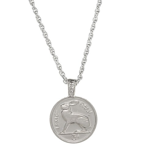 American Coin Treasures Lucky Rabbit Coin Pendant with 24-inch Chain
