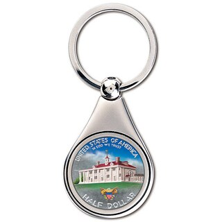 American Coin Treasures Colorized Washington Commemorative Half Dollar Coin Keychain