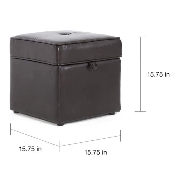 Terrific Shop Sydney Dark Brown Faux Leather Ottoman Free Shipping Dailytribune Chair Design For Home Dailytribuneorg