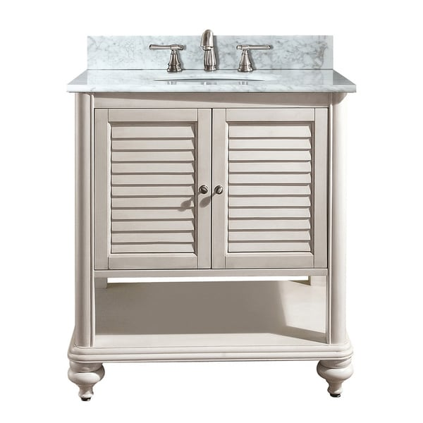 Avanity Tropica 24-inch Single Vanity in Antique White Finish with Sink and Top