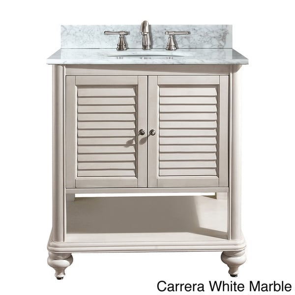 Avanity tropica 24 inch single vanity in antique white finish with sink and top free shipping for 24 inch white bathroom vanity with top