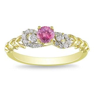 Miadora 14k Gold 1/2ct TDW Pink and White Diamond Ring