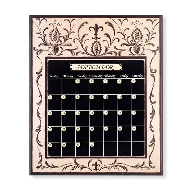 Black/ Off-White Perpetual Calendar