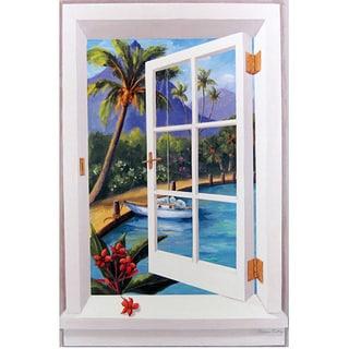 Tropical Window Scene