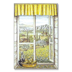 Provence with Pears Window Scene