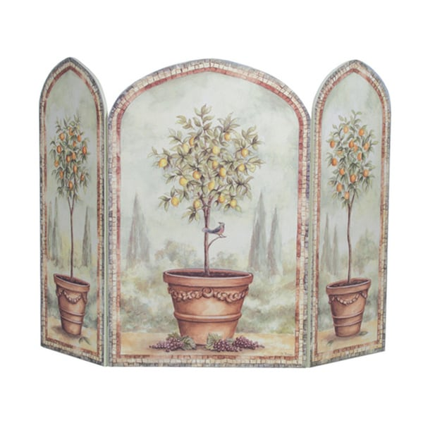 Orange/ Lemon Trees Fire Screen