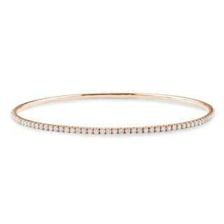 Miadora 14k Rose Gold 2 1/4ct TDW Diamond Bangle Bracelet