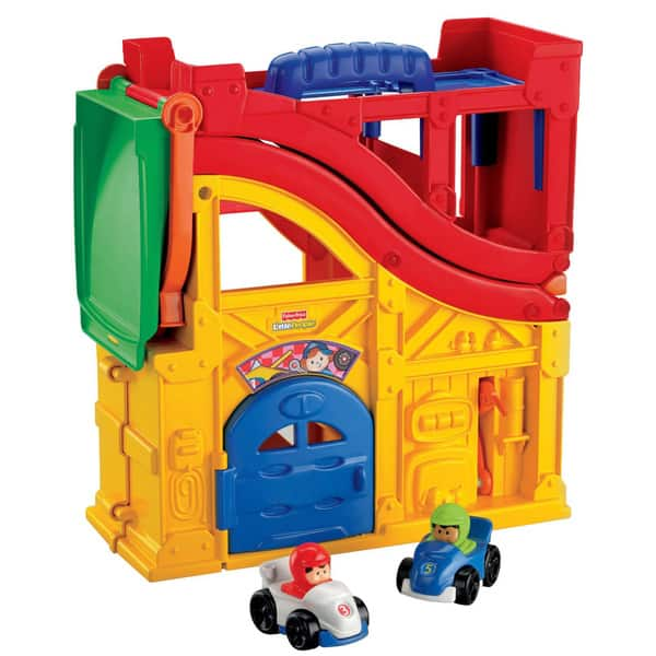Shop Fisher Price Little People Wheelies Rev N Sounds Race Track Overstock 6330581