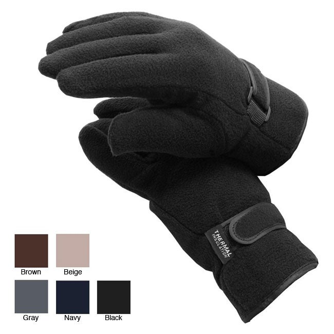 Mens Polor Fleece Winter Gloves