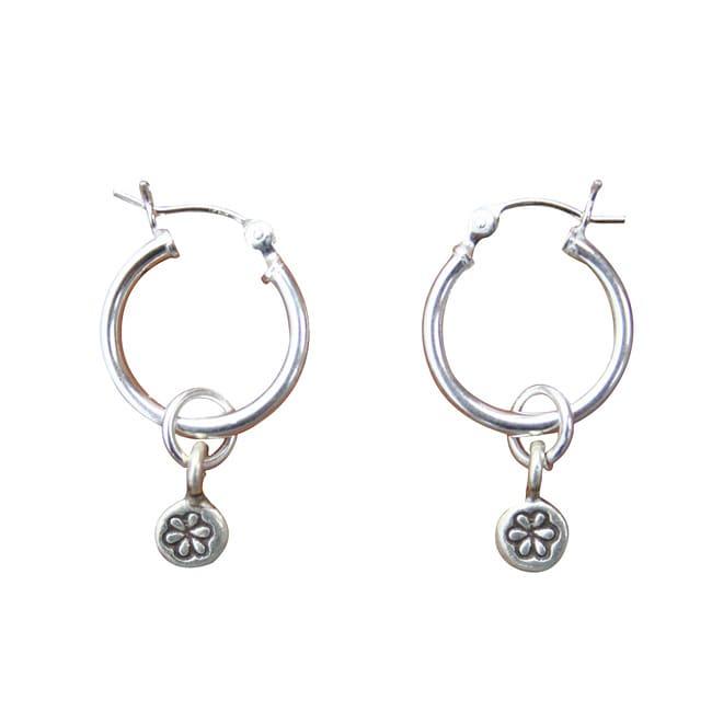 Beadwork By Julie Sterling Silver Hill Tribe Flower Earrings