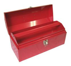 Excel Portable Steel Tool Box with Metal Tray