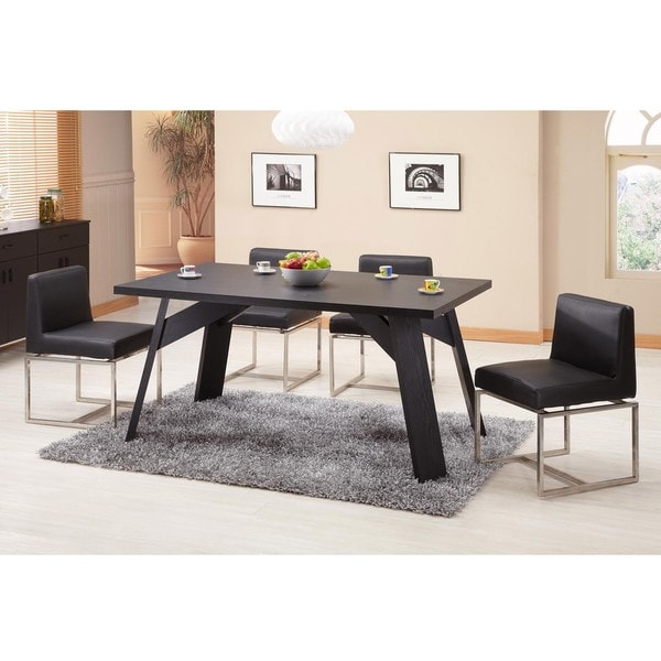 Furniture of America Porta Finish Black Dining Table/ Office Desk