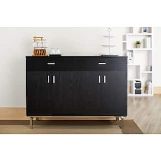 Furniture Of America Mason Black Finish Buffet Dining Server 2 Options Available