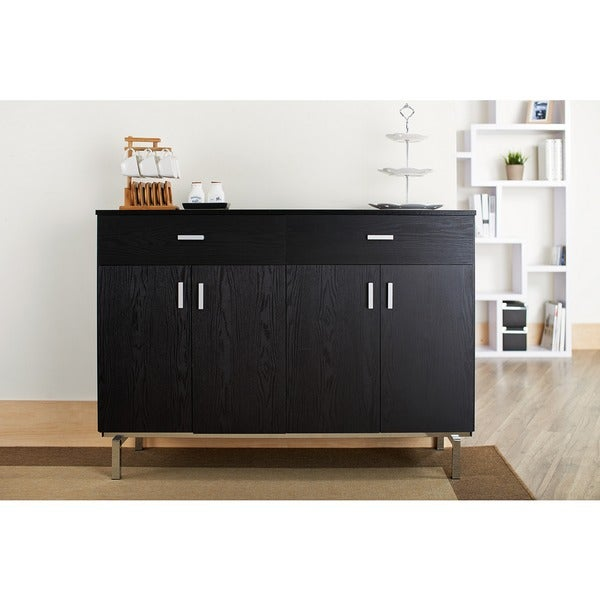 Furniture Of America Mason Black Finish Buffet/ Dining Server   Free  Shipping Today   Overstock.com   13955096