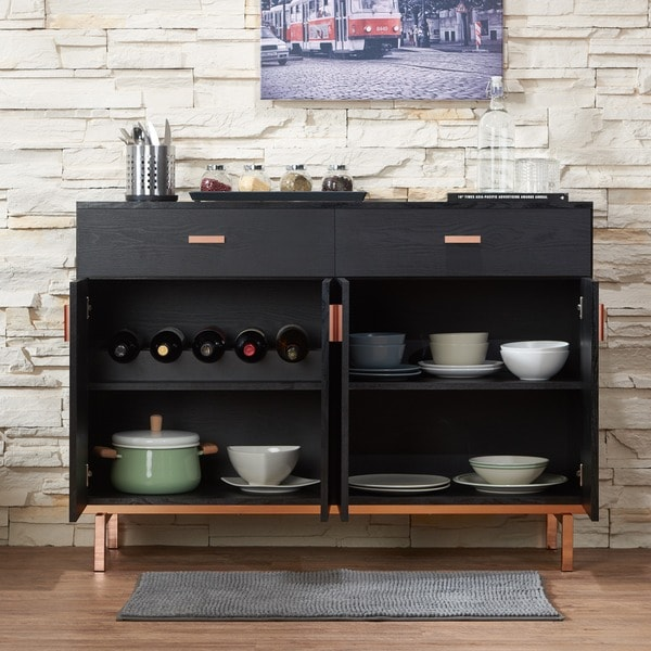 Lovely Furniture Of America Mason Black Finish Buffet/ Dining Server   Free  Shipping Today   Overstock.com   13955096