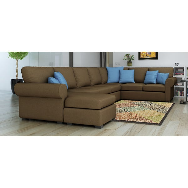 Furniture Of America Keaton Chenille Sectional Sofa   Free Shipping Today    Overstock.com   13955168