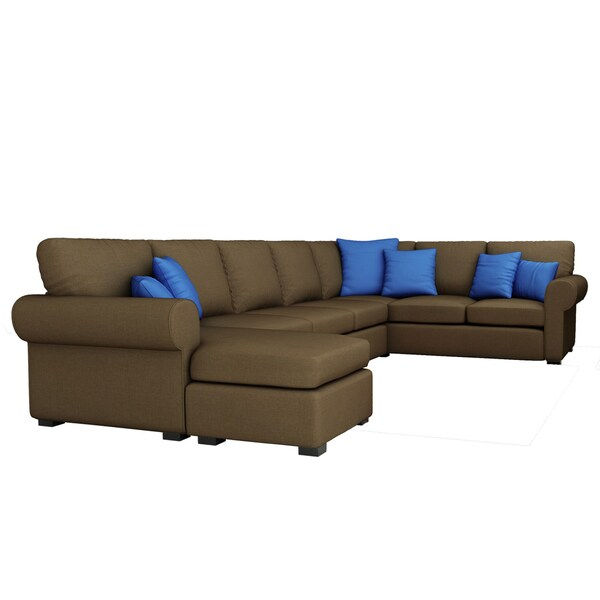 Awesome Furniture Of America Keaton Chenille Sectional Sofa   Free Shipping Today    Overstock.com   13955168
